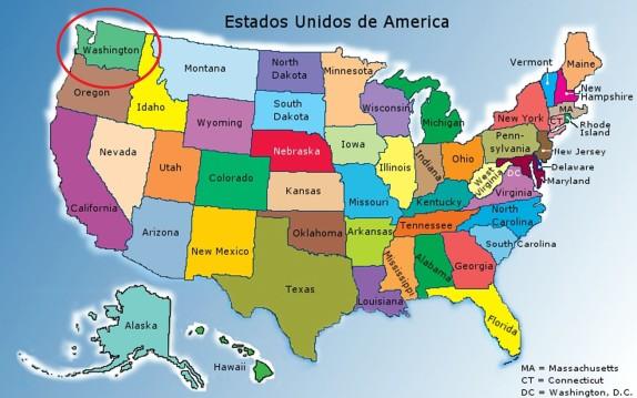 2 Mapa Estados Unidos da America