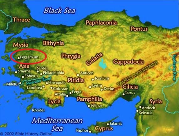 2 Pérgamo - Mapa antigo