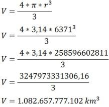 Cálculo volume da Terra