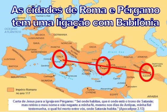 Ligação entre Roma, Pérgamo e Babilônia