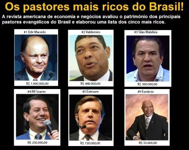 Pastores mais ricos