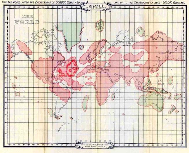 Mapa Atlântida 2 (200 mil anos)