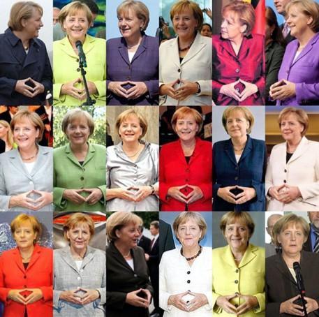 Angela Merkel faz simbolo maçônico do esquadro e compasso