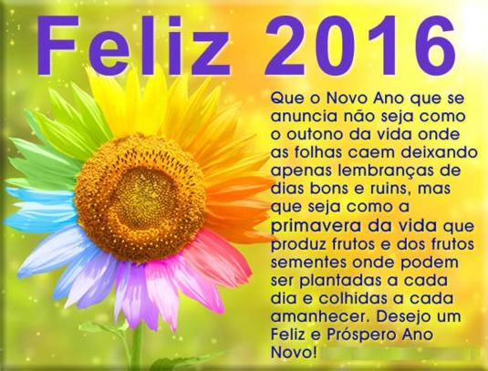 Feliz 2016 mensagem