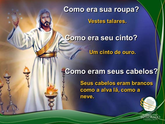 2 Jesus de veste talar e cinto de ouro