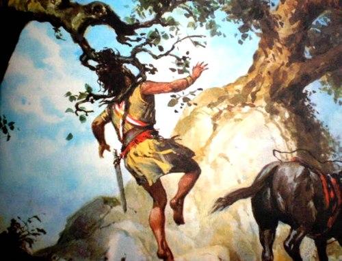 A morte de Absalão preso pelos cabelos