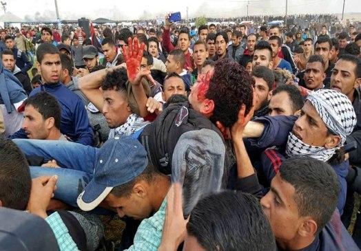 Israel ataca marcha pacífica palestina em Gaza