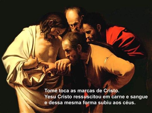 Tomé toca as marcas de Cristo