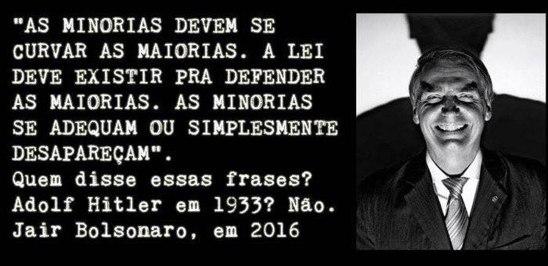 01 As minorias devem se curvar para as maiorias - Jair Bolsonaro